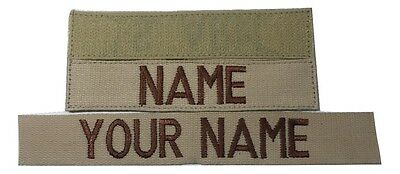 Desert Tan CustomName Tape, with Fastener, Sew-On, US ARMY USAF MARINES Military