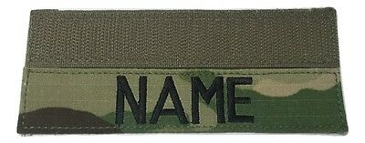 MULTICAM  OCP Custom NameTape with Fastener, US Army Military