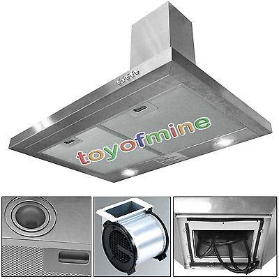 "New 36"" Stainless Steel Range Hood Wall Mount Stove Exhaust Kitchen Ventless"