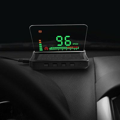 Universal Car HUD Head Up E260 OBD 2 Display Systerm Speeding Warning Saftey 4''