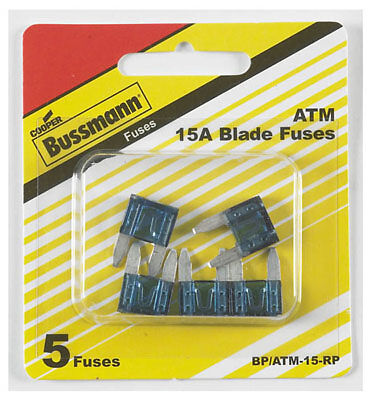 Bussmann BP/ATM-15-RP Mini Automotive Fuses-15AMP MINI FUSE