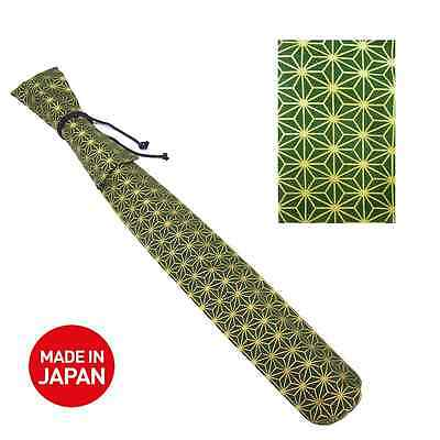 Long Cotton Flute Bag and Plastic Sleeve for Your Shakuhachi! Made in Japan