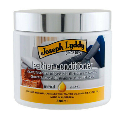 Joseph Lyddy LEATHER CONDITIONER cream natural wax Saddlery Antiques Shoes 380g