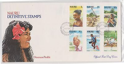(H19-95) 1985 Nauru FDC 2envelopes 12stamps definitive