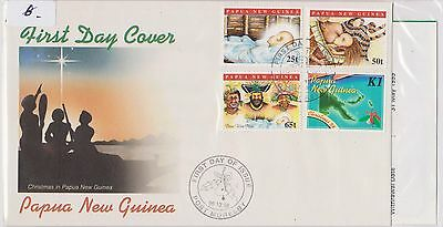 (H19-24) 1998 PNG FDC 4stamps Christmas