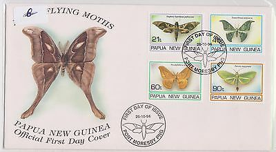 (H19-46) 1994 PNG FDC 4stamps flying moths new issue