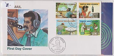 (H19-21) 1996 PNG FDC 4stamps radio communication