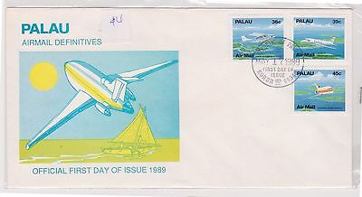 (H19-75) 1989 Palau FDC 3stamps air mail definitive