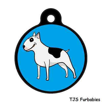 Bull Terrier-Cute Custom Personalized Pet ID Tag for Dog & Cat Collars & Harness