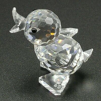 Swarovski Crystal Small Baby Duck Chick Bird Figurine Retired Signed Open Mouth