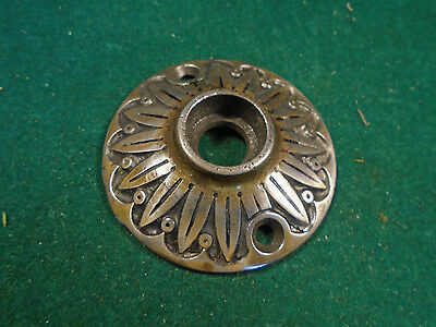 "Vintage Cast Steel Eastlake 2"" Knob Escutcheon !  Very Nice  (6030)"