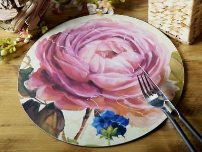 Set of 4 'Opulance' Rose Placemats & Matching Coasters.