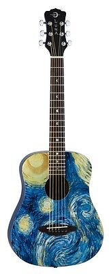 Luna SAFSTR Safari Starry Night 3/4 Acoustic Guitar. Delivery is Free