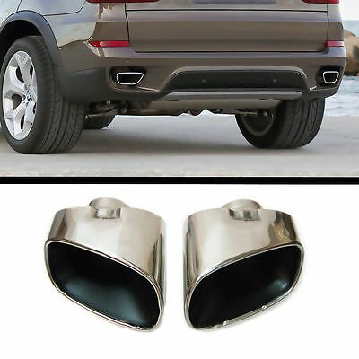 for Bmw X5 E70 Sport Chrome Double Exhaust end pipe Tailpipe Steel