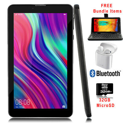 "Unlocked! 7"" Android 4.4 3G 2sim TabletPhone w/ SmartCover & Bundle Included"