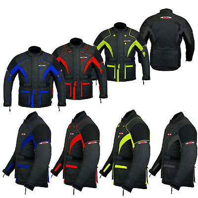Armoured Motorbike Motorcycle Waterproof Jacket Coat All Weather CE Approved