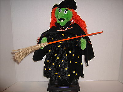 """Vintage Hallmark Singing and Dancing Witch 16"""" tall"""