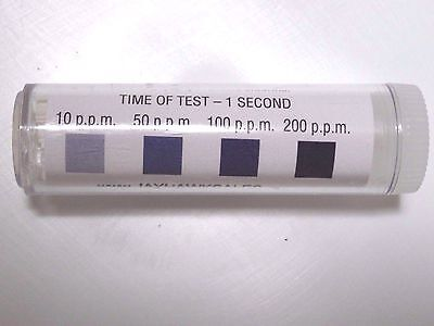 Chlorine Litmus Test Kit 100 Strips Restaurant Supplies Dishwasher Test Paper