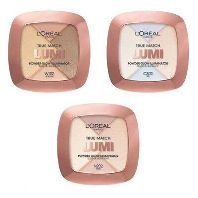L'OREAL True Match Lumi Powder Glow Illuminator Blush & Highlight  include brush