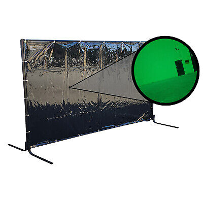 Green Welding Curtain / Screen and frame Combo- Heavy duty on wheels-1.8m x 2.7m