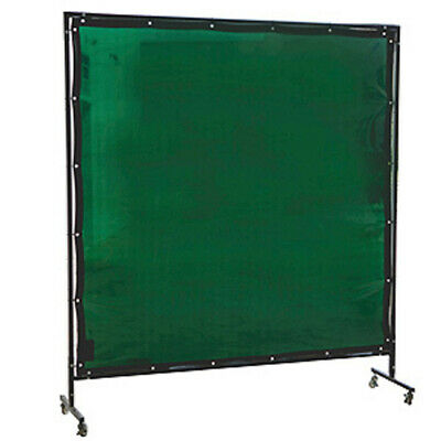 Green Welding Curtain / Screen and frame Combo- Heavy duty on wheels-2.0m x 2.0m