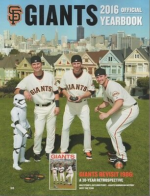 2016 San Francisco Giants Yearbook Mays Posey Bumgarner Mlb Official Program