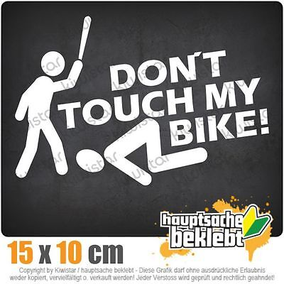 DONT TOUCH MY BIKE Bicycle Decorative Warning Sticker Waterproof Decal YellJB