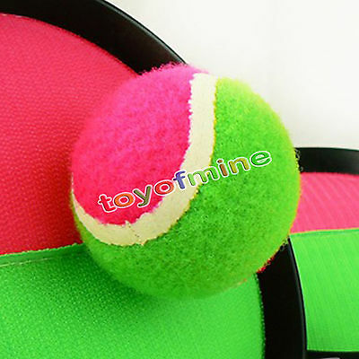 Throw & Catch 2 Bats Ball Outdoor Play Family Game Toy Hot Bat Sport NEW
