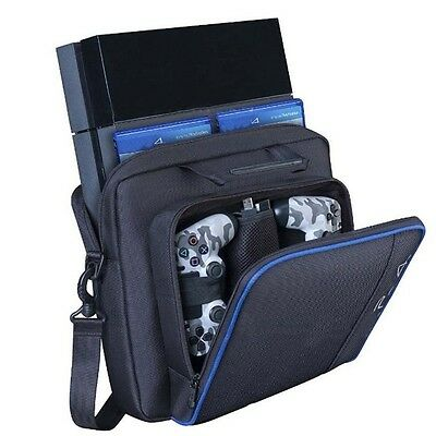 Black Multifunctional Carry Case Travel Carrying Bag For Sony PlayStation 4 PS4