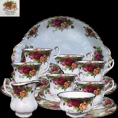 Royal Albert OLD COUNTRY ROSES 21pc Tea set 1st Eng c1962