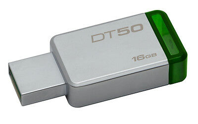 Kingston DataTraveler 50 16GB USB 3.0 Flash Stick Pen Memory Drive - Green