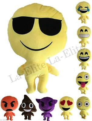 Stuffed Toy Emoji Yellow Round Cushion Emotion Smiley Pillow Soft Plush Doll