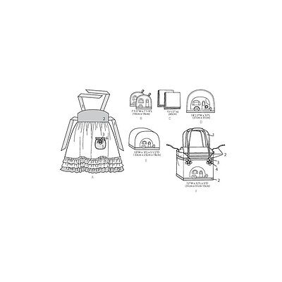 Apron, Potholders, Napkins, Napkin Rings, Placemats, Toaster-One Size Only. Bran