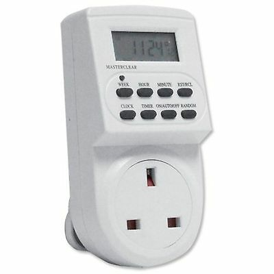 7 Day Digital LCD  Electronic Plug-in Program 12/24 Hour Timer Switch Socket x1