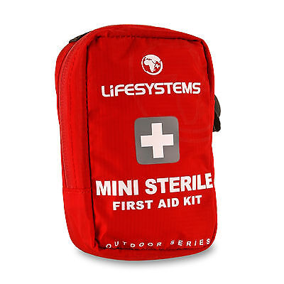 Lifesystems Mini Sterile First Aid Kit Emergency Outdoor Plasters Bandages Burn