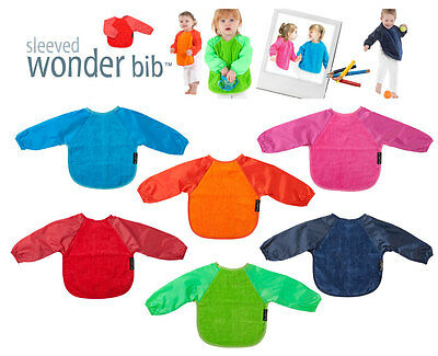 NEW Mum2Mum Sleeved Wonder Bib Long Sleeves Water Resistant Large Baby Mum 2 Mum