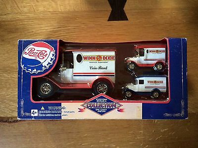 Pepsi Cola Coin Bank Diecast Model With Mini Versions In Box