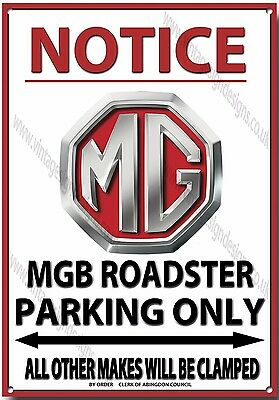 Mg Mgb Roadster,notice Mgb Roadster Parking Only Metal Sign.vintage Mg Cars