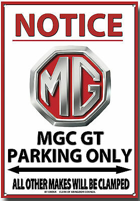 Mgc Gt,notice Mgc Gt Parking Only Metal Sign.vintage Mg Cars