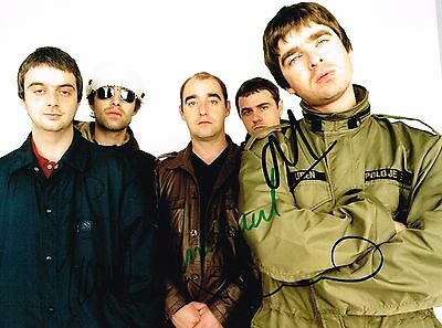 Oasis Fully Hand Signed Autographed 8 x 6 Colour Picture - Liam Noel Gallagher