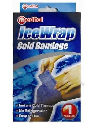 Medital 3.5m Ice Wrap Cold Bandage Compression Therapy Strains Sprains Muscles