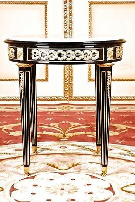 G-Sam-101 French round Table Louis Seize Baroque Style