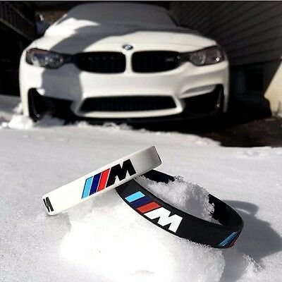 Unisex M Power Performance Sport Baller ID Band Wristband Bracelet For BMW Lover