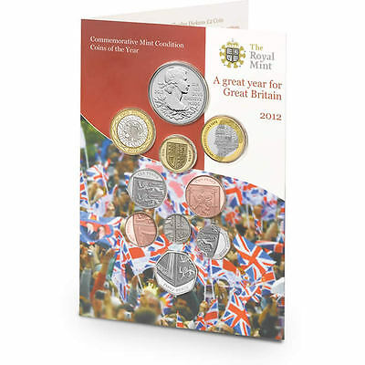 2012 Royal Mint Annual Brilliant Uncirculated 10 Coin Set