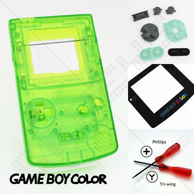 New Clear Green Nintendo Game Boy Color GBC Replacement Casing/Shell/Housing