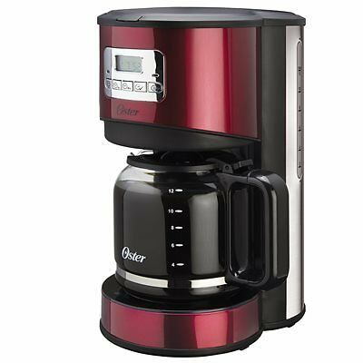 Oster® 12-Cup Programmable Coffee Maker - Red Stainless Steel