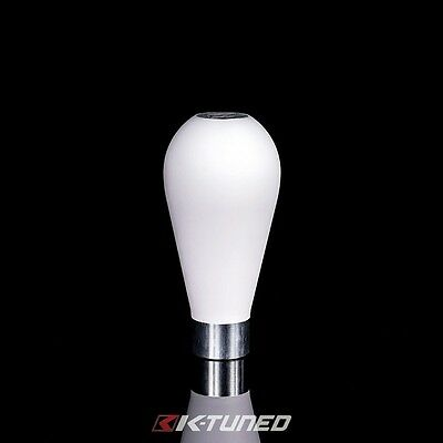 K-TUNED TEXTURED DELRIN TEAR SHIFT KNOB 10X1.5 HONDA ACURA KTD-TDR-KNW White
