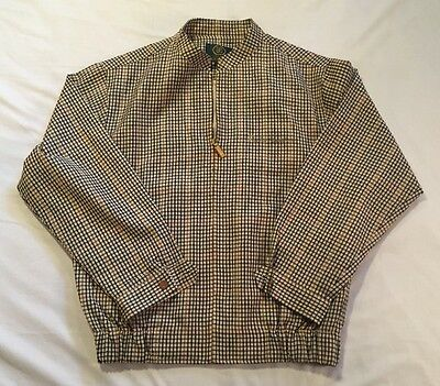 VTG Paolo Gucci Women's 95 US Size 8-10 Brown & Black Plaid Full Zip Golf Jacket
