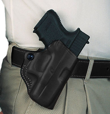 DeSantis Mini Scabbard Leather Belt Holster Glock 19 23 32 36  Black Right Hand