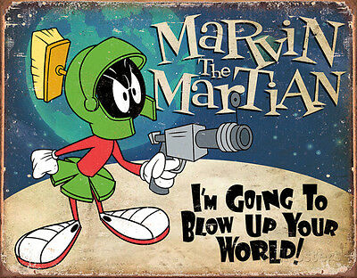 Marvin the Martian Tin Sign - 16x12.5